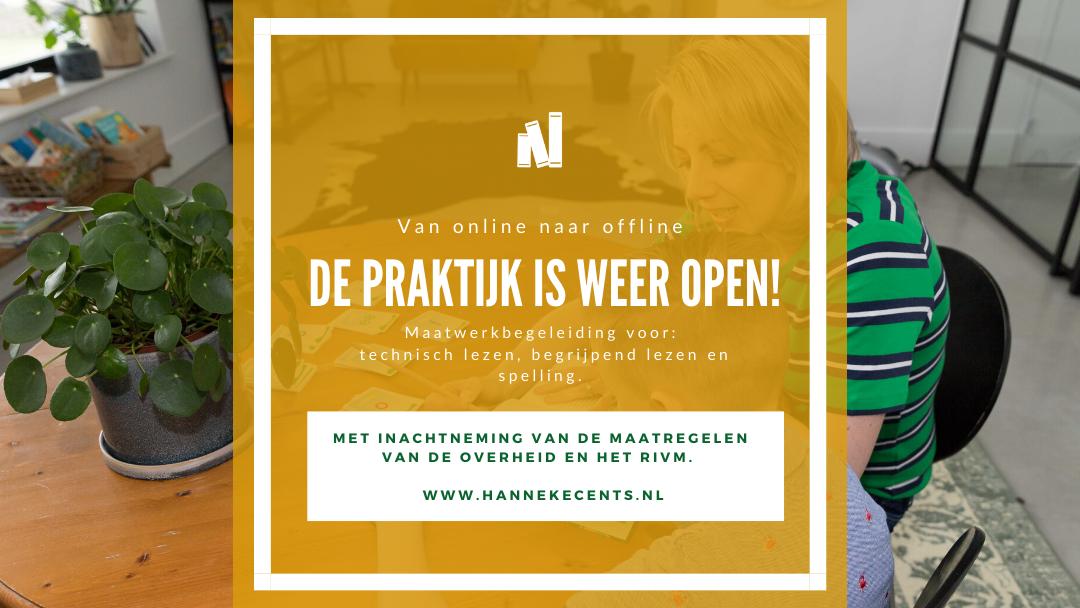 Van online naar offline: de praktijk is weer open!